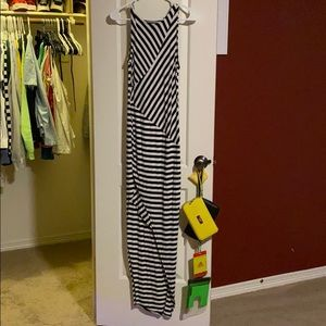 Stripped black and white dress